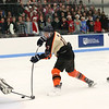 HADLEY GREEN/Staff photo<br /> Beverly's Paul Edson (17) shoots at the Beverly v. Peabody boys hockey game at Endicott College.<br /> 12/20/17
