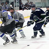 HADLEY GREEN/Staff photo<br /> Pingree's Christian DiMeglio (13) skates towards the puck at the Pingree v. Berwick Academy boys hockey game at the Pingree School.