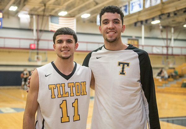 AMANDA SABGA/Staff photo. <br /> <br /> Former Hamilton-Wenham standout twins Marcus and Max Zegarowski, now playing for Tilton Academy, play a game against Commonwealth at the Gordon College gym.<br /> <br /> 12/9/17