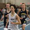 MIKE SPRINGER/Staff photo<br /> Jack Dwortz of St. John's Prep competes in the one-mile run during a Tri-County Track & Field League meet Tuesday at the Reggie Lewis Track and Field Center in Roxbury Crossing.<br /> 12/26/2017