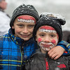 AMANDA SABGA/Staff photo. <br /> <br /> Liam, 8, and Luca Mone, 6, of Danvers, show of their Santa face paint at the annual Santa by the Sea event at Pope's Landing in Danvers.<br /> <br /> 12/9/17