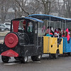 AMANDA SABGA/Staff photo. <br /> <br /> Train rides are one of the many free activities at the annual Santa by the Sea event at Pope's Landing in Danvers.<br /> <br /> 12/9/17