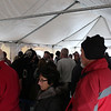 HADLEY GREEN/Staff photo<br /> A line formed at Cherry Street Fish Market on Saturday morning.<br /> <br /> 12/23/17