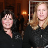 Lauren Poussard, of Danvers, left, and Sam Bigelow, of Beverly, at the 4th Annual Artists & Authors Winter Exhibition held at the Hawthorne Hotel on Wednesday evening. DAVID LE/Staff Photo 2/19/14