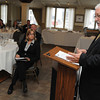 Ken Yuszkus/Staff photo:  Salem:  Bob Luz, president and CEO of the Massachusetts Restaurant Assocation speaks at the Salem Chamber of Commerce Executive Lunch held at Finz Seafood and Grill.