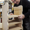 Ken Yuszkus/Staff photo: Peabody:  Mark O'Hara works on a book rack in wood working at the Peter A. Torigian Community Life Center. He was making the project for the Roger B. Trask Social Day Care which is an adult day care program located at the center.