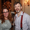 Cheryl Frary, of Swampscott, and Mike Cherry, of Salem at the 4th Annual Artists & Authors Winter Exhibition held at the Hawthorne Hotel on Wednesday evening. DAVID LE/Staff Photo 2/19/14