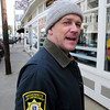 Ken Yuszkus/Staff photo: Ipswich:  Ipswich Animal Control Officer Matt Antczak stands on Market Street. He is proposing a DNA program to help curb dog waste downtown and other areas of town.