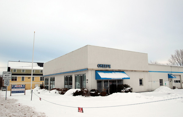 The old O'Keefe Chevy Dealership located at 116 County Road in Ipswich along Route 114, has been vacant and abandoned since 2008. DAVID LE/Staff photo
