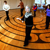 Ken Yuszkus/Staff photo: Beverly: From left, Kathleen Gabrielli, Bill Christina, Susan Indresano, Linda Regis, Nancy Hamlin, and Adah Marker perform Tai Chi at the Council On Aging Senior Community Center in Beverly.