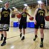 Bishop Fenwick senior girls basketball captains Gianna Pizzano, Kate Lipka and Bridget Corcoran. DAVID LE/Staff photo