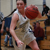 Hamilton-Wenham sophomore guard Molly Eagar (11) drives hard to the hoop against Bishop Fenwick on Tuesday evening. DAVID LE/Staff Photo 2/18/14