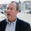 Ken Yuszkus/Staff photo: Revere:  Chip Tuttle on Broadway in Revere.