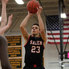 Salem junior Bryan Martinez-Rodriguez (23) takes a jumper against Lynn Classical on Friday evening. DAVID LE/Staff Photo 2/14/14