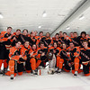 Beverly Head Coach Bob Gilligan and his Panthers team scored 7 second period goals to capture the 27th Annual Carlin Cup 8-1 over Peabody at the McVann O'Keefe Rink in Peabody on Monday afternoon. DAVID LE/Staff Photo 2/17/14