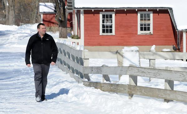 Ken Yuszkus/Staff photo: Danvers:  Danvers harbormaster Chris Sanborn began the oversight of Endicott Park in Danvers.