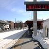 PAUL BILODEAU/Staff photo. The Beverly Depot information ticker showing trains running behind schedule yesterday.