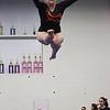 MARIA UMINSKI/SALEM NEWS Beverly senior Kate Jackimowicz takes to the air during her balance beam routine.