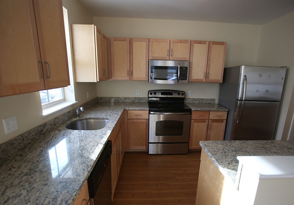 DAVID LE/Staff photo. Kitchen of an available apartment at the Windover Development Apartment Complex on Rantoul Street in Beverly. 2/11/16.