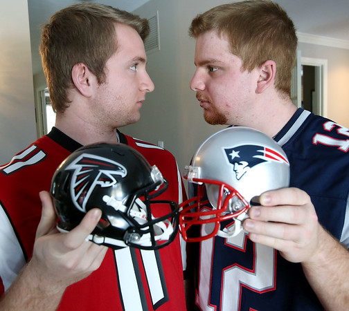 Masconomet brothers Max and Sam Gordon...one is a NE Patriots fan, the other an Atlanta Falcons fan