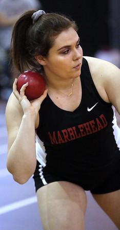 Lynn English at Marblehead co-ed indoor track meet