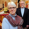 Ken Yuszkus/Staff photo: Salem:  Joy Morris with her husband, the Rev. James Morris at St. John the Baptist Ukrainian Catholic Church in Salem.