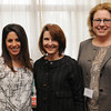 Ken Yuszkus/Staff photo:  Danvers: From left, Rachel Abdulla Sayer of Joe's Playland, Mary Barthelmes of the Wenham Museum, and Sally Carlson of SC Communications, attended the North of Boston Convention and Visitors Bureau Tourism summit.
