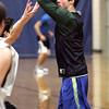 Ken Yuszkus/Staff photo: Hamilton:  Hamilton-Wenham's Jimmy Campbell trains at basketball practice.