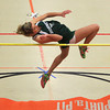 Ipswich: Manchester-Essex junior Aisling Batchelder leaps over the high jump bar during a tri-meet at Ipswich High School on Friday afternoon. DAVID LE/Staff Photo