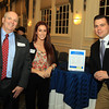 Salem: From left, Joe Welch of TradeWinds, Brittany Seidman of Boxer Motor Works, and Scott Gibney Jr. of the Salem Chamber of Commerce, at the Salem Chamber of Commerce After Hours Networking event held inside the Salem Five Community Room on Wednesday evening. DAVID LE/Staff Photo