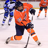 Boston: Salem State University junior wing Chad Goodwin takes a shot against UMass Boston on Tuesday afternoon. The Vikings fell to the Beacons 4-2. DAVID LE/Staff Photo