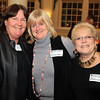 Salem: From left, Joan Brennan of Witch Tee's, Marcia Nickerson of BeKenma Faeries, and Reverend Barbara Szafranski of Angels Landing and Angelica of the Angels, at the Salem Chamber of Commerce After Hours Networking event held inside the Salem Five Community Room on Wednesday evening. DAVID LE/Staff Photo