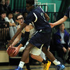 South Hamilton: Pingree sophomore forward Alonzo Jackson (3) traps Concord Academy guard Malin Segal (20) with nowhere to go during the second half of play. DAVID LE/Staff Photo 1/31/14