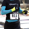 Ken Yuszkus/Staff photo: Salem: Meagan Nedlo of Salem is the first woman to cross the finish line at the seventh annual Frosty Four 4-mile road race in Salem.