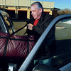 Ken Yuszkus/Staff photo: Peabody: Meals On Wheels driver Ken Webster places his pack of meals into his car at the Torigan Center which he will deliver to elderly Peabody residents.