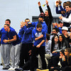 PAUL BILODEAU/Staff photo<br /> <br /> Danvers High School students react to there teams basketball game at Danvers High School against Lynn English.