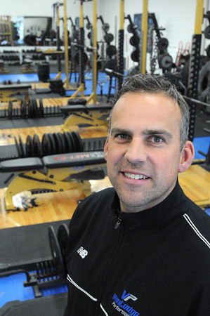 Ken Yuszkus/Staff photo:  Woburn:  Beverly native and current Marblehead resident Pat Downey, owner and Founder of Gridiron Training, is moving his business to Marblehead.