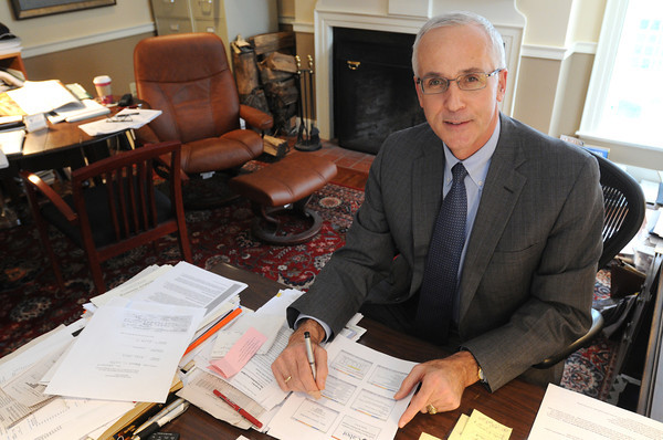 Ken Yuszkus/Staff photo: Rob Lutts, president, chief investment officer, Cabot Money Management at his office in Salem.