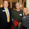 Salem: From left, Rinus Oosthoek, Executive Director of the Salem Chamber of Commerce, Patrick Runne of Bedrock Music Co, and Elizabeth Brewin of Palmers/Executive Chefs, at the Salem Chamber of Commerce After Hours Networking event held inside the Salem Five Community Room on Wednesday evening. DAVID LE/Staff Photo