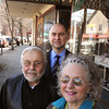 Ken Yuszkus/Staff photo: Beverly:  From left, Don Preston, Frank Kaminski, and Janice Preston in front of Casa de Moda in downtown Beverly. Kaminski is buying the two buildings where Casa de Moda is located but the store, which opened in 1969, will consolidate and remain open in one of the buildings.