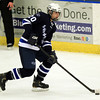Salem: Swampscott senior defenseman Max Cohen (20) carries the puck up ice on Wednesday afternoon. The Witches defeated the Big Blue 3-1 at Rockett Arena at Salem State University in NEC action. DAVID LE/Staff Photo