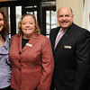 Ken Yuszkus/Staff photo:  Danvers: From left, Cezanne Macary, Jessica McGinley, Peter Campisani, and Nicki Bean, all of DoubleTree By Hilton Boston/Northshore, attended the North of Boston Convention and Visitors Bureau Tourism summit.