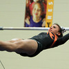 Marblehead: Beverly gymnast Heather Gomes performs on the uneven bars during a meet with Marblehead in an NEC gymnastics clash at the Lynch/van Otterloo YMCA on Wednesday evening. DAVID LE/Staff Photo 1/8/14
