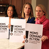 Wenham: From left, JoAnn Vizziello, Ann Krantz, Communications Lead of the Massachusetts Chapter of Moms Demand Action, and Ruth Bossler, all of Wenham, are part of the Moms Demand Action for Gun Sense in America North Shore chapter. DAVID LE/Staff Photo