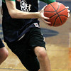 Ken Yuszkus/Staff photo: Hamilton:  Hamilton-Wenham's Henry Eagar trains at basketball practice.