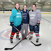South Hamilton: Pingree girls hockey captains junior Leah Heinze and seniors Kristina Caradonna and Jillian Witwicki have provided veteran leadership for the Highlanders so far in the 2013-2014 season. Witwicki, with 99 career points is looking to score her 100th point as a member of the Pingree program in their next game. DAVID LE/Staff Photo
