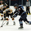 Peabody: Peabody forward Sophia Post rips a slap shot on net against Bishop Fenwick during a matchup between the Tanners and Lady Crusaders at McVann-O'Keefe Rink in Peabody. DAVID LE/Staff Photo 1/10/14