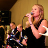 Danvers: Kelly Novack, from Horizon and the Horns, performs during the Mayor's Inaugural Ball for new Beverly Mayor Mike Cahill, at the Danversport Yacht Club on Saturday evening. DAVID LE/Staff Photo