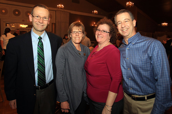 Danvers: From left, Peter and Jeannette McGinn, and Beth and Joel Brenner, at the 13th annual Dr. Martin Luther King Awards Dinner sponsored by the Danvers Committee for Diversity at the Danversport Yacht Club on Monday evening. DAVID LE/Staff Photo
