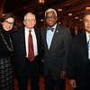 Danvers: From left, Sally Kearns, Reverend Dr. Charles Gross, Dr. Charles Desmond, and Dr, Dris Djermoun, at the 13th annual Dr. Martin Luther King Awards Dinner sponsored by the Danvers Committee for Diversity at the Danversport Yacht Club on Monday evening. DAVID LE/Staff Photo